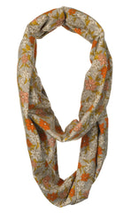 Organic Bamboo Infinity Scarf & Nursing Cover with Grey Floral Design