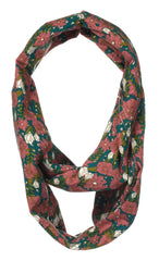 Organic Bamboo Infinity Scarf & Nursing Cover with Teal Floral Design