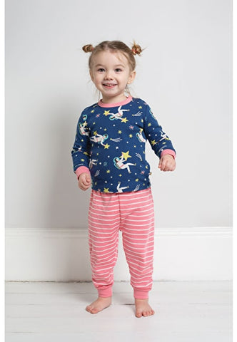 Image of Frugi Little Long John PJs - Shooting Stars - Tilly & Jasper