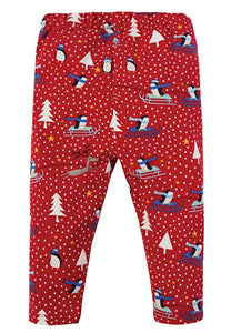 Frugi Little Libby Printed Leggings - Penguin Play - Tilly & Jasper