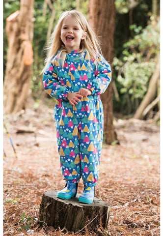 Frugi Explorer Waterproof All In One - Happy Hikers