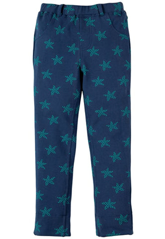 Image of Frugi Tresco Trousers - Marine Blue Starfish Spot - Tilly & Jasper