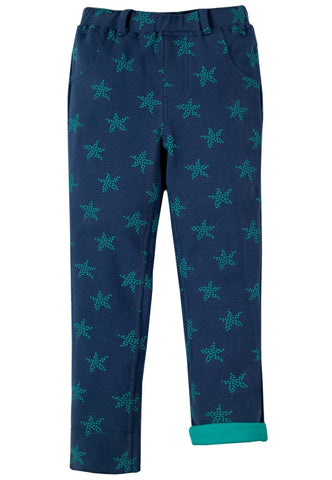 Frugi Tresco Trousers - Marine Blue Starfish Spot - Tilly & Jasper
