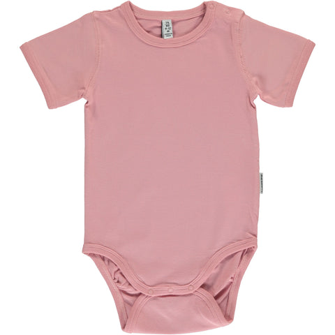 Maxomorra Short Sleeve Body - Dusty Pink