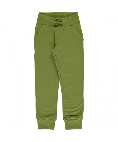 Maxomorra Sweatpants - Apple Green
