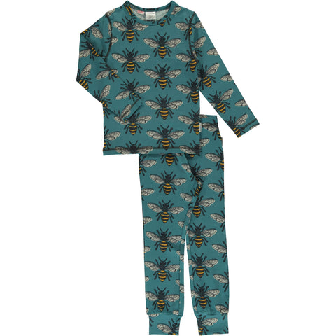 Maxomorra Long Sleeve Pyjama Set - Bee