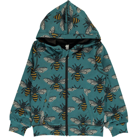 Maxomorra Cardigan Hood - Bee