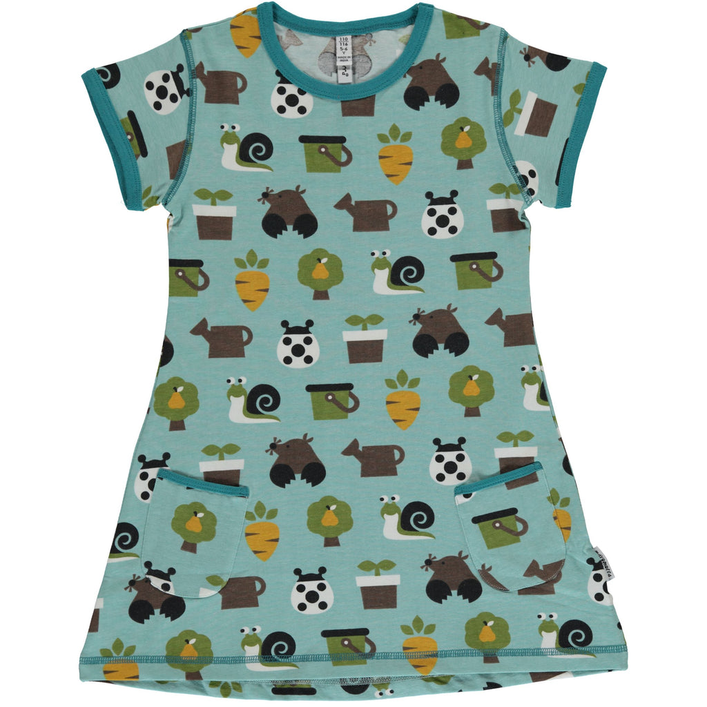 Maxomorra Short Sleeve Tunic - Garden