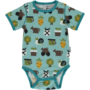 Maxomorra Short Sleeve Body - Garden
