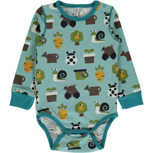 Maxomorra Long Sleeve Body - Garden
