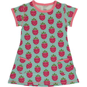 Maxomorra Short Sleeve Tunic - Raspberry
