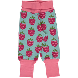 Maxomorra Pants Rib - Raspberry