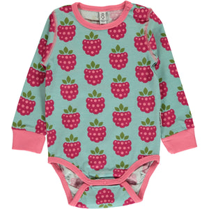 Maxomorra Long Sleeve Body - Raspberry
