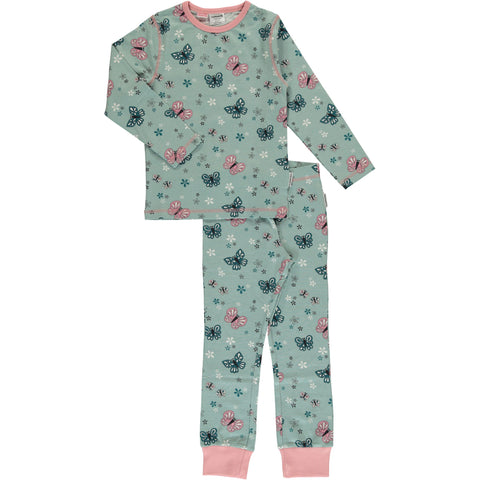 Maxomorra Long Sleeve Pyjama Set - Butterfly