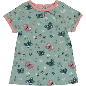 Maxomorra Short Sleeve Top A-Line - Butterfly