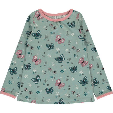 Maxomorra Long Sleeve Top A-Line - Butterfly