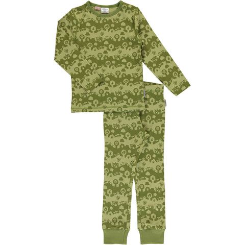 Maxomorra Long Sleeve Pyjama Set - Garden Landscape