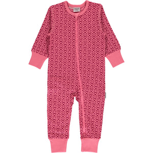 Maxomorra Long Sleeve Zip Romper - Ladybug