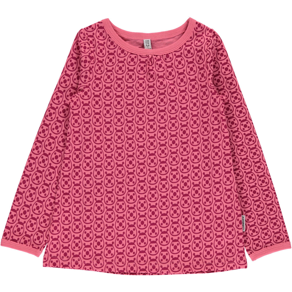 Maxomorra Long Sleeve Top A-Line - Ladybug