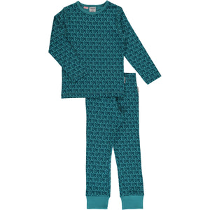 Maxomorra Long Sleeve Pyjama Set - Tractor