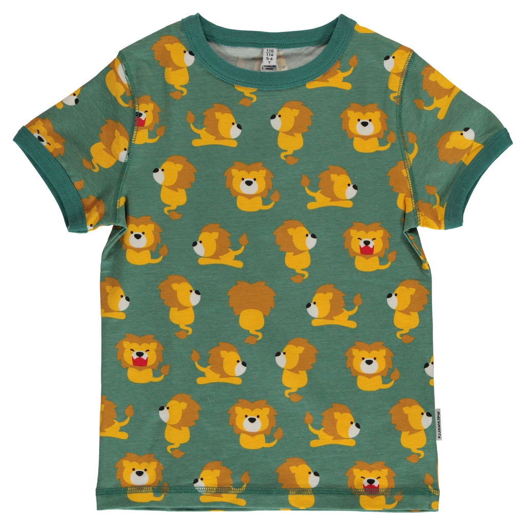 Maxomorra Short Sleeve Top - Lion