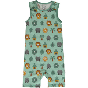 Maxomorra Short Dungarees - Jungle