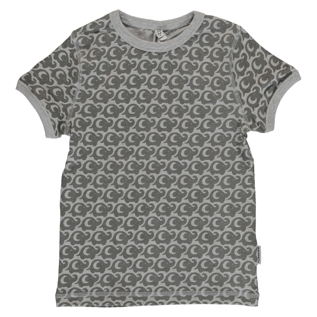 Maxomorra Short Sleeve Top - Elephant