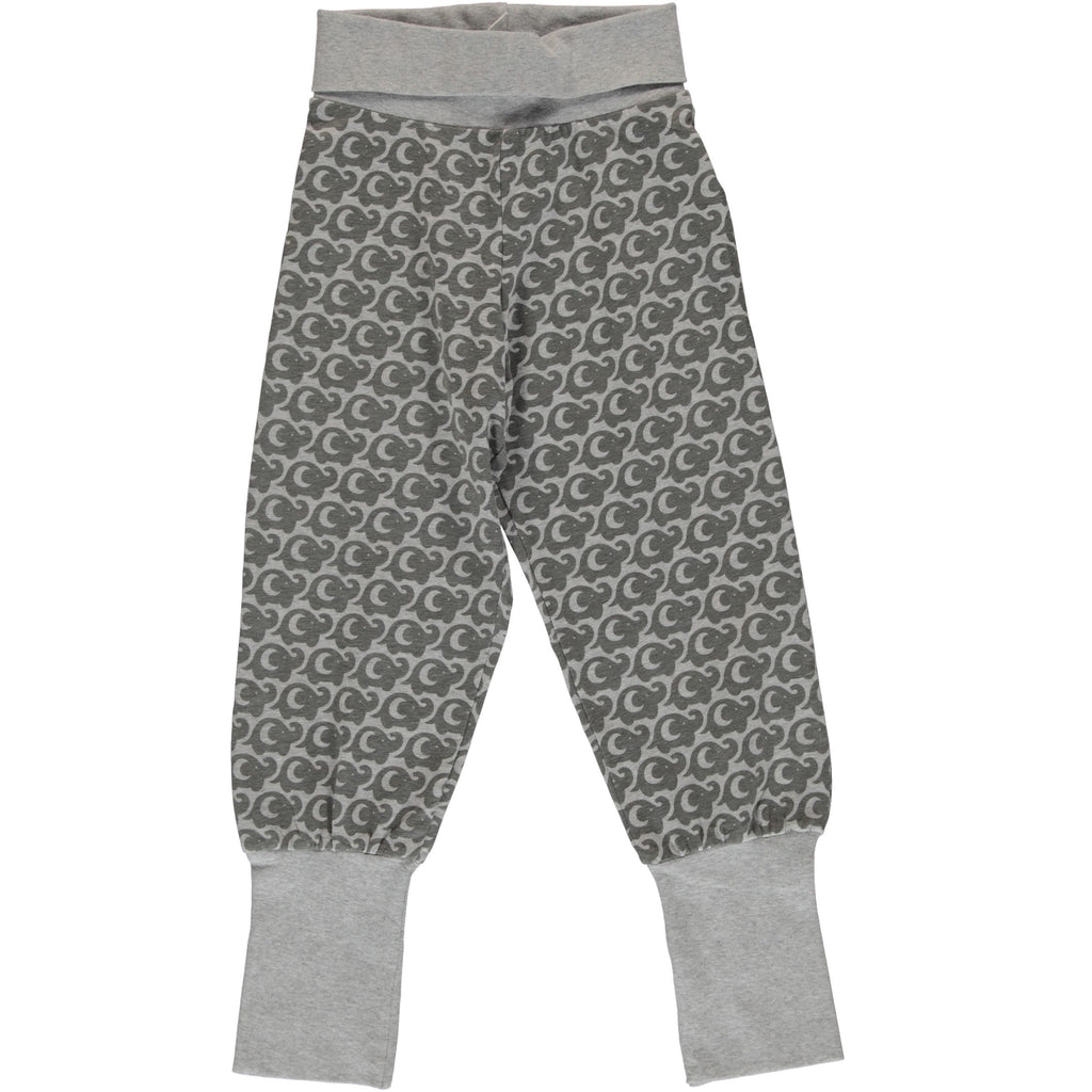 Maxomorra Pants Rib - Elephant