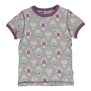 Maxomorra Short Sleeve Top - Budgie