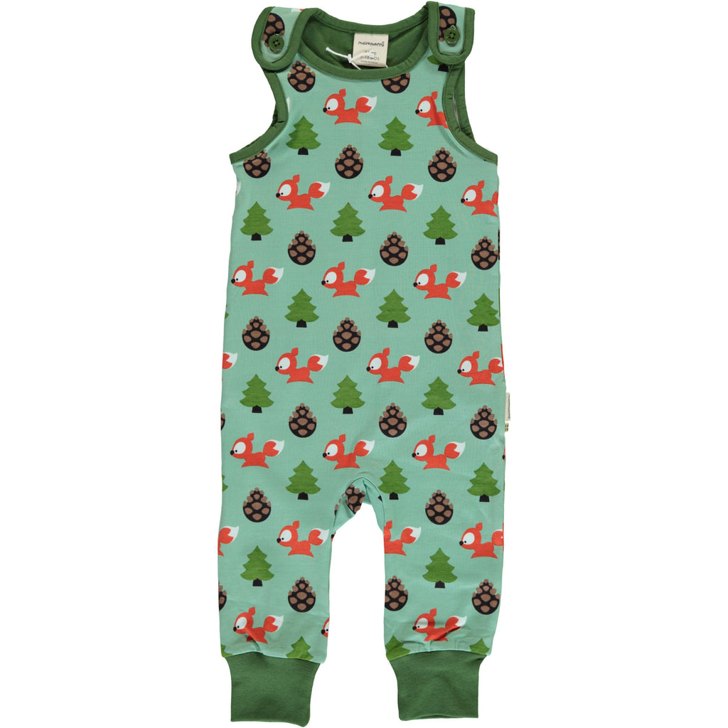 Maxomorra Dungarees - Busy Squirrel