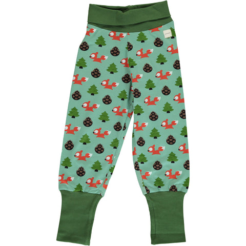 Maxomorra Rib Pants - Busy Squirrel