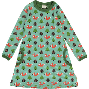 Maxomorra Long Sleeve Dress - Busy Squirrel