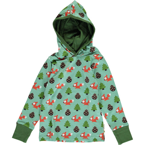 Maxomorra Long Sleeve Hood - Busy Squirrel