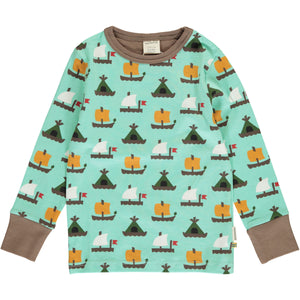 Maxomorra Long Sleeve Top - Raft Race
