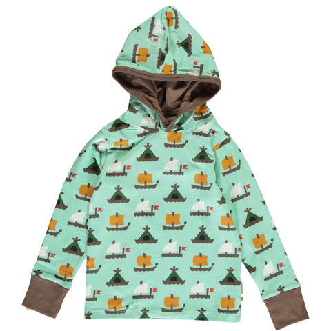 Maxomorra Long Sleeve Hood - Raft Race
