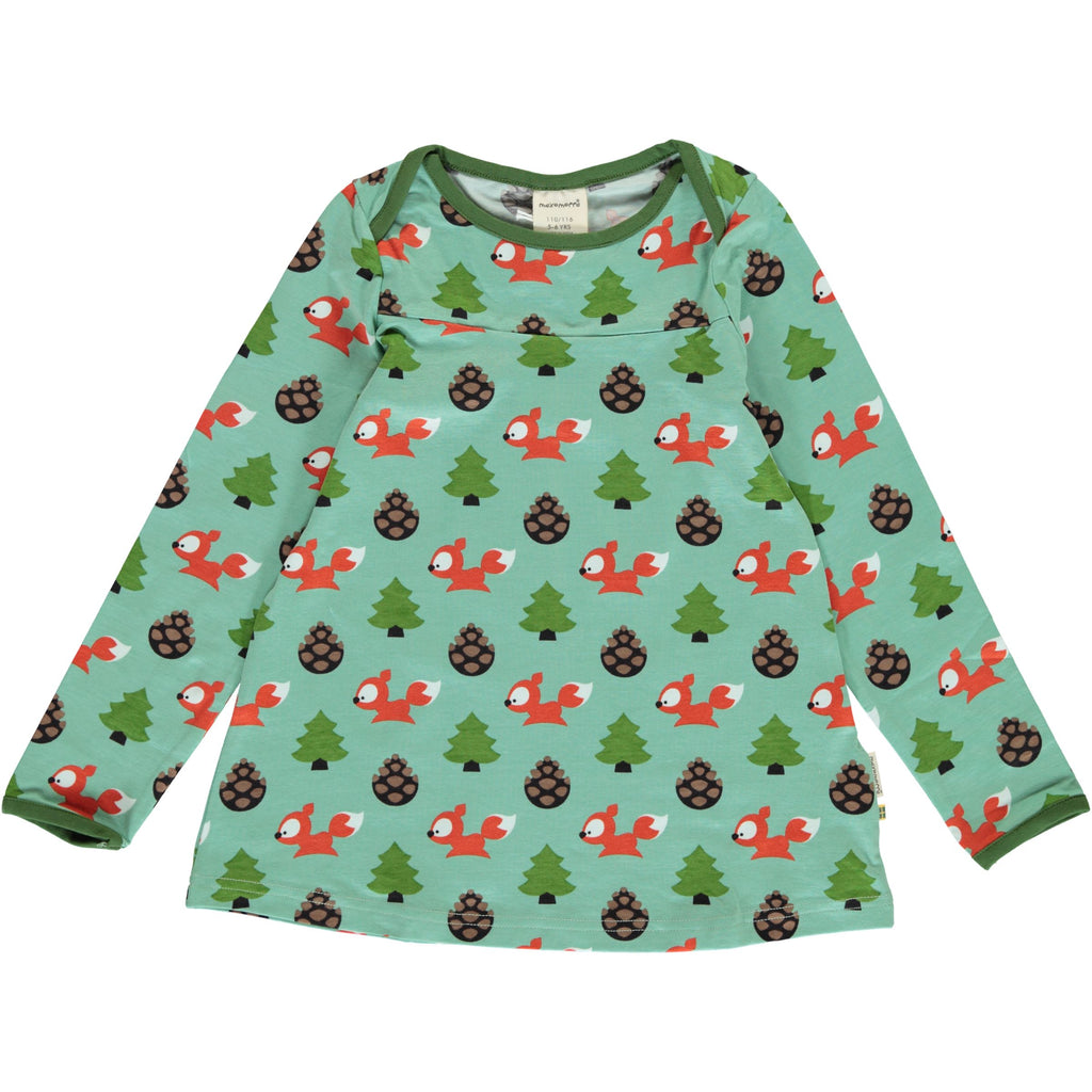 Maxomorra Long Sleeve Flare Top - Busy Squirrel