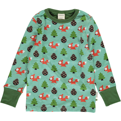 Maxomorra Long Sleeve Top - Busy Squirrel