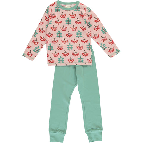 Maxomorra Long Sleeve Pyjama Set - Ruby Rowanberry