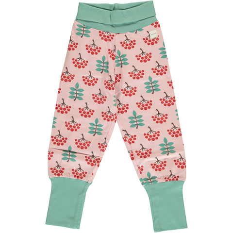 Maxomorra Rib Pants - Ruby Rowanberry