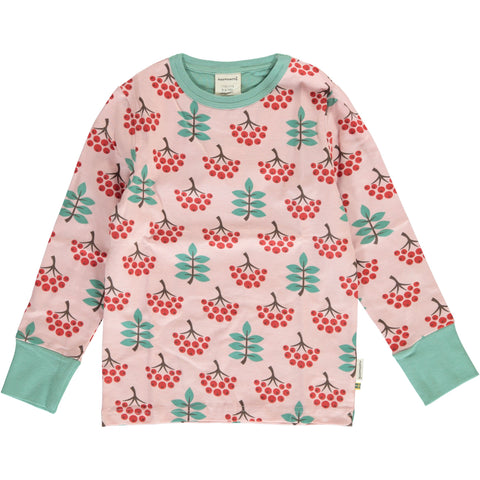 Maxomorra Long Sleeve Top - Ruby Rowanberry