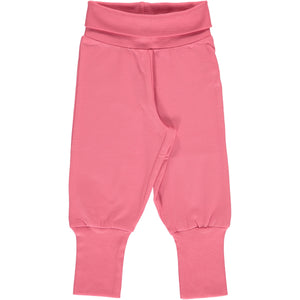 Maxomorra Pants Rib - Rose Pink