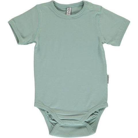 Maxomorra Short Sleeve Body - Pale Blue