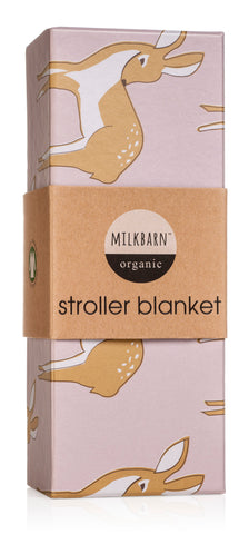 Image of Organic Cotton Stroller Blanket - Rose Doe