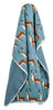 Image of Organic Cotton Stroller Blanket - Blue Buck
