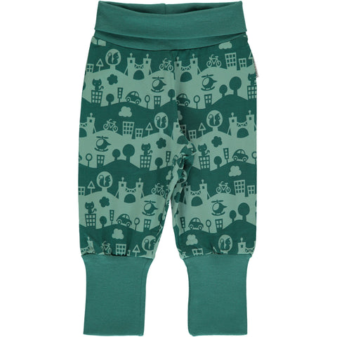 Maxomorra Pants Rib - City Landscape