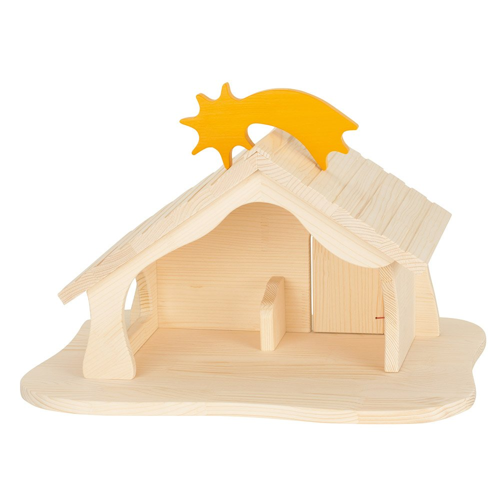 Holztiger Large Nativity House with Star