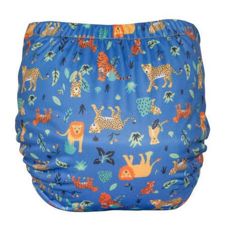 Image of TotsBots Easy Fit Star Nappy - Cobalt Big Cats
