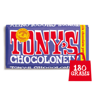 Tony's Chocolonely Fairtrade Dark Milk Pretzel Toffee  Chocolate 180g