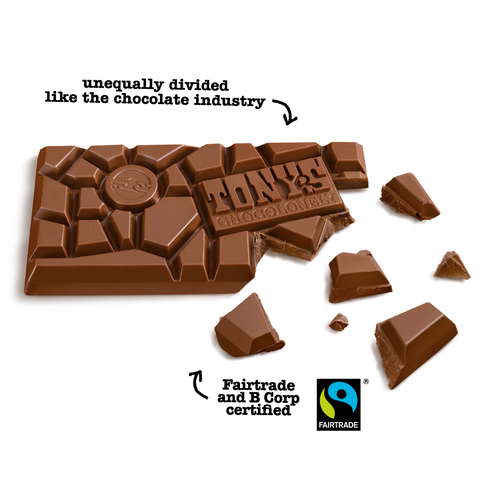 Image of Tony's Chocolonely Fairtrade Almond Honey Nougat Chocolate 180g