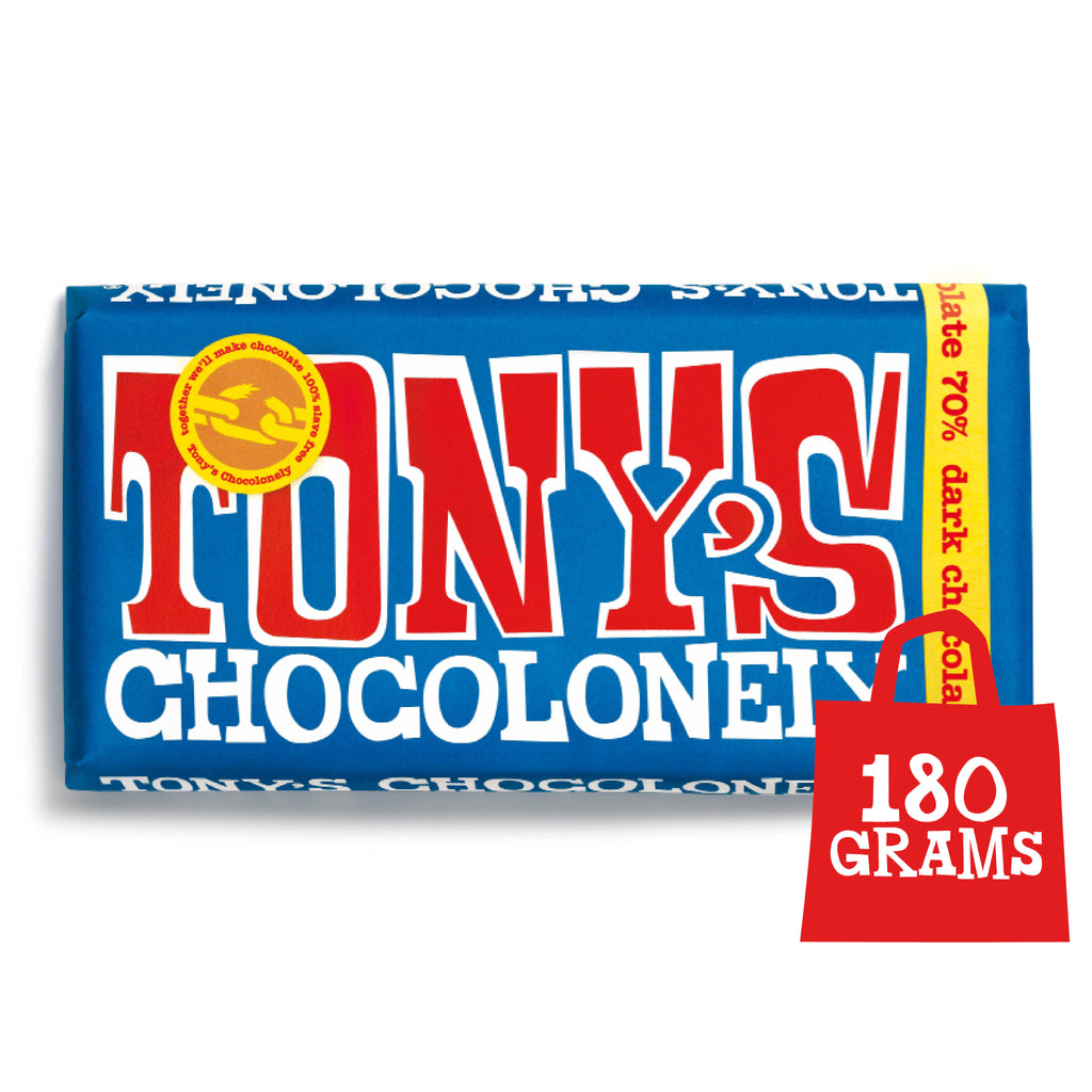 Tony's Chocolonely Fairtrade Extra Dark Chocolate 180g